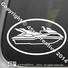 Water Scooter Oval Decal Sticker - jet ski waverunner watercraft logo emblem