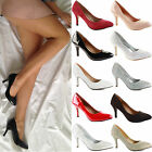 WOMENS LADIES LOW MID KITTEN HEEL WEDDING PARTY BRIDESMAID WORK SHOES PUMPS SIZE