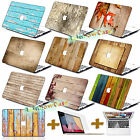 3D Wood Prints Cut-out Hard Case Cover For Macbook Pro Air 11