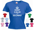 'Keep Calm and Segway' Ladies / Girls Funny T-shirt Tee