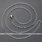 Mens Womens 2/3/4mm 316L Stainless Steel Anchor Cross Link Chain Necklace 18-26""