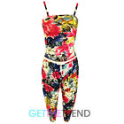 Girls Floral Jumpsuit Kids Teens Strappy Strap Pink Long Jumpsuit All In One