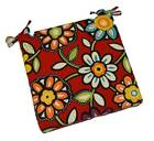 In / Outdoor Red Contemporary Floral Universal Foam Chair Cushion ~ Choose Size