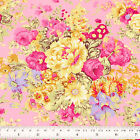 Colourful Bouquet Flower Printed Cotton Fabric Dress Quilting Craft YA6 per Yard