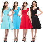 LADIES 1950'S VTG STYLE SHIRT STYLE SWING RETRO DRESS PARTY PROM NEW