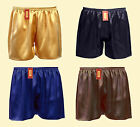 1pc 19MM Mens 100% Pure Silk Charmeuse Sport Gym Jogging Football Shorts XS-3XL