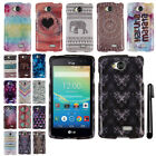 For LG Tribute LS660 PATTERN HARD Protector Case Phone Cover Accessory + Pen