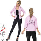Deluxe Pink Lady Ladies Jacket Grease Rizzo Frenchy Fancy Dress Costume UK 8-18