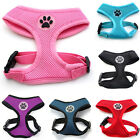 Soft Mesh Fabric Dog Puppy Pet Adjustable Harness Lead Leash with Clip Clothes