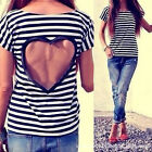 Backless Cute  Women Casual Lace Shirts Cotton Blend  Blouses T Shirt Tops Top