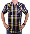 NEW LEVI'S MEN'S CLASSIC COTTON CASUAL BUTTON UP PLAID GOLD NAVY 3LYSW6102