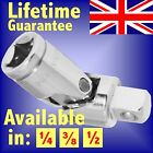 SILVERLINE UNIVERSAL JOINTS ALL SIZES 1/4 3/8 1/2 SQUARE DRIVE SOCKET knuckle UJ