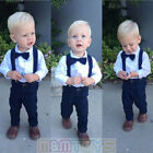 New Matching Clip on Suspender + Bowtie for Kids Toddler Boys Girls w Gift Box