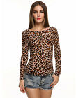 Fashion Womens Tops Loose Cotton Lace Long Sleeve T-Shirt Casual Blouse Pullover