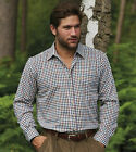 MENS CHAMPION COUNTRY CHECK SHIRT FISHING HUNTING FRONT CHEST POCKET