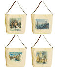 Vietsbay's Beautiful Winter Landscapes Canvas Tote Bag with Leather Strap