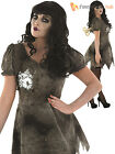 Size 8-22 Deluxe Ladies Wind Up Doll + Key Halloween Fancy Dress Costume Womens