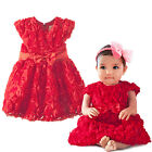 Red Flower Girl Dresses / Baby & Kids Dress Wedding Party Christmas 1 2 3 4 5 6Y