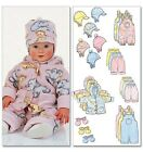 Butterick 5584 Baby Accessories Jacket Dungarees Pants Hat Mittens Pattern B5584