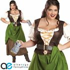 ADULT LADIES PLUS SIZE TAVERN MAIDEN FANCY DRESS COSTUME MEDIEVAL OUTFIT