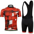 CC2012-2 Cycling Bike Bicycle Short Sleeve Set Men 3D Pattern Jersey +Bib Shorts