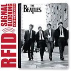 THE BEATLES GENUINE LEATHER RFID ANTI THEFT PASSPORT WALLET ORGANIZER COVER