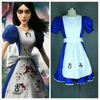 Alice Madness Returns Alice unfrom cosplay party costume dress Free Shipping