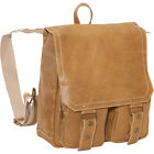 David King & Co. Distressed Leather Laptop Backpack 4 Colors