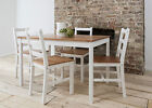 Dining Table and 4 Chairs Contemporary Dining Set in Choice of Colours Annika