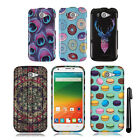 For ZTE Imperial 2 N9516 Snap On PATTERN HARD Case Phone Cover + Pen