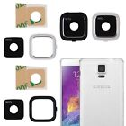 Rear Camera Frame Holder + Glass Lens Cover For Samsung Galaxy Note 4 N910 N9100