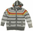 Urban Extreme Little Boys' Long Sleeve Striped Hooded Cardigan Sweater