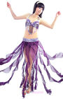 New Belly Dance Cost​ume Outfit 2 Pics Bra&Skirt 34B/C 36B/C 38B/C 10 colors