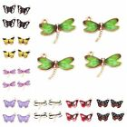 20pcs Lots Gold Plated Enameled Butterfly Dragonfly Charms Alloy Pendant Craft D