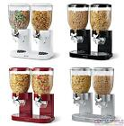 NEW ZEVRO THE ORIGINAL INDISPENSABLE CEREAL DISPENSER DOUBLE Storage Box