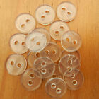 10 x clear backing buttons 11mm 15mm & 20mm 2 holes