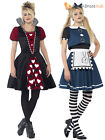 Ladies Dark Alice Queen of Hearts Fairytale Costume Halloween Fancy Dress Teen