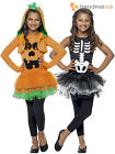 Age 4-10 Girls Skeleton Pumpkin Tutu Halloween Fancy Dress Costume Kids Children