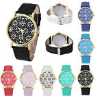 Women Girl Casual Daisy Dial Leather Band Analog Quartz Vogue Wrist Watch image