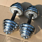 STO Adjustable Pair Total 22-110 Lbs Cast Iron Gym Strength Weight Dumbbells Set
