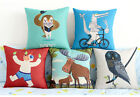 "Comical Animal 18""x45cm Decor Cotton Linen Cushion cover Pillowcase"