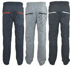 Mens Crosshatch Jogger Jogging Bottoms Trousers  Fleece Tracksuit Jog Pants