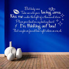 Thinking Out Loud Ed Sheeran Quote Song Music Lyrics Sticker Wall Art Vinyl A184