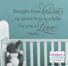 Disney Dumbo Quote Vinyl Wall Decal Nursery Straight from Heaven Disney Elephant
