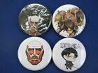 """Attack On Titan Movie TV Pinbacks & Necklace SELECT SIZE 1"""", 1.25"""" or 2.25"""""""
