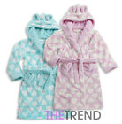 Girls Kids Night Gown Toddlers Heart Novelty Animal Fun Fleece Night Robe 2-6