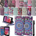 For LG Tribute LS660 Flip Wallet LEATHER Skin POUCH Case Phone Cover + Pen