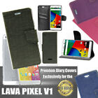 Diary Wallet Style Folio Flip Flap Cover Case For Lava Iris Pixel V1