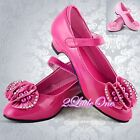 Diamante Mary Janes Shoes US Size 10 - Youth 4 EU 25-36 Flower Girl Pageant #005