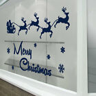 Christmas Sleigh New Decorations Snow Winter Decals Shop Wall Window Xmas A297